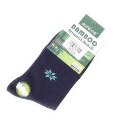 Hópehely mintás bambusz női normál zokni (NN081)