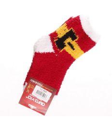 Karácsonyi mintás zsenília gyerek zokni (GB2118)