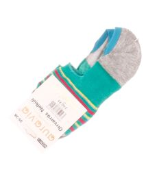 Lábfejnél csíkos, sarkánál szilikonos pamut női extra titok zokni (NDD812)
