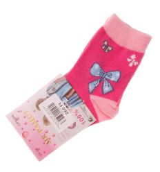 Vegyes mintás pamut lány normál zokni (CP5008)
