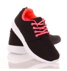 Könnyű, rugalmas, fűzős sportcipő vékony textil felsőrésszel (88-602)