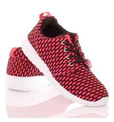 Erős horgolt hatású,rácsos mintás fűzős sportcipő (SW15715)