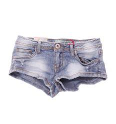 Koptatott,  szaggatott extra mini női farmer rövid nadrág (G2899)
