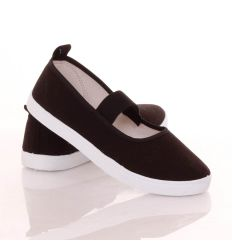 Balerina fazonú, gumis pántú női vászon cipő (B214)