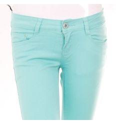 Csőszárú, farmeres pamut anyagú női csípő nadrág (706A)