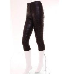 Zebra mintás, húzott, gumis, rugalmas női térdleggings nadrág (NL829)