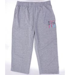 Feliratos, szíves, derekán gumis, pamutos női térd nadrág (G1534A)