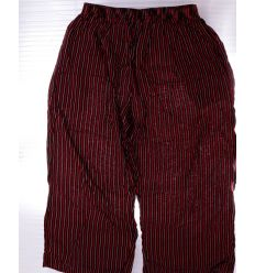 Csíkos, gumis derekú, bő fazonú női pamut halász nadrág (K-702)