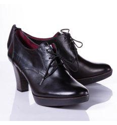 Tamaris bőr magassarkú boka cipő (1-23300-26)