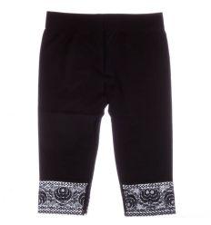 csipkés aljú, egyszínű női elasztikus térd feletti leggings (F3266)