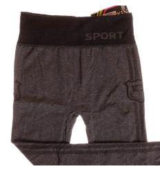 Sport feliratú, oldalt mintás női leggings (A195-3)