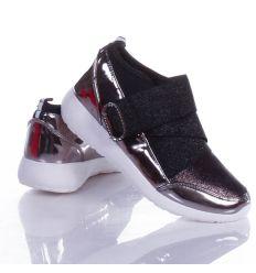 Lakkos, gumis-tépőzáras női sport félcipő (AN9337)