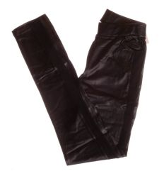 Oldalt háló betétes, műbőr női leggings, nadrág (9046-2)