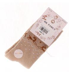 Termo, rénszarvas mintás női pamut zokni (WP2502)