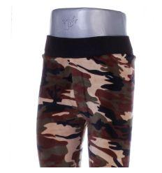 Terepmintás, vastag, bundás gyerek plüss leggings nadrág (601)