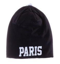 Paris feliratos, polár béléses, pamut sapka (157)