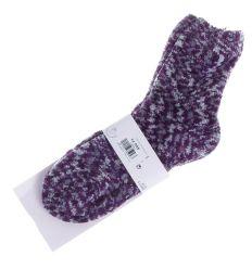 Kis mintás, csúszásgátlós, vastag zsenília női zokni (NB613)
