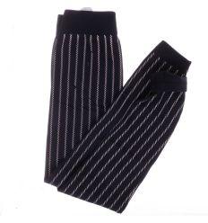 Csíkos, belül bolyhos, elasztikus női termo leggings (SL9060)