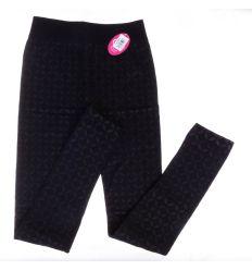 X-mintás, belül bolyhos, elasztikus női termo leggings (SL9037)