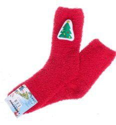Téli figurás, zsenília gyerek zokni vegyes mintás (ACD126)