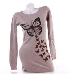 Pillangós, strasszköves, női hosszított felső, tunika (B-266)