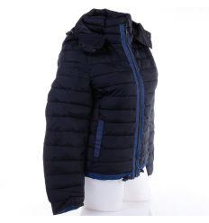 Farmer betétes, steppelt mintás, kapucnis női dzseki, kabát (WS-233)