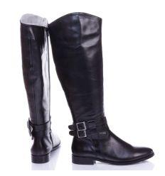 Zign bokánál csatos bőr női csizma, belül vékony szivacsos jellegű béléssel (ZI111MA01)
