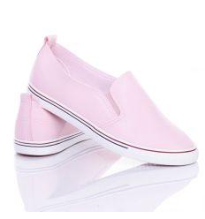 Anyagában mintás, egyszínű, női műbőr slip-on cipő (BL88)