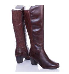 Jana vékony textil béléses, vádlinál kígyómintás női bőr, műbőr csizma (8-25504-25)