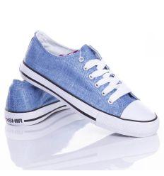 Egyszínű, ezüst szálas, fűzős női vászon torna cipő (CQ-19)