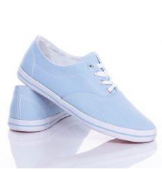 Egyszínű, fűzős vászon torna cipő (CQ-43)