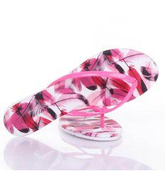 Toll mintás, lakkos pántú, lábujjközös női papucs (L61701,L61702,L61703,L61704)