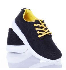 Könnyű, színes fűzős sportcipő vékony textil felsőrésszel (88-602)