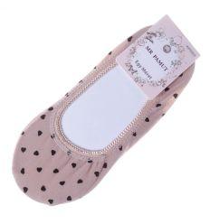 Szíves, pamut női balerina zokni (WP6905)