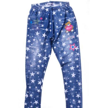 34475d6b71 Csillagos, macis, farmeres mintás pamutos lány leggings (883)