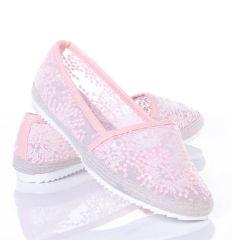 Flitteres, horgolt mintás, körben fonott női belebújós cipő (L61719,L61721)