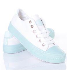 Kétszínű, 6 fűzőlyukas uniszex vászon tornacipő (BL97)