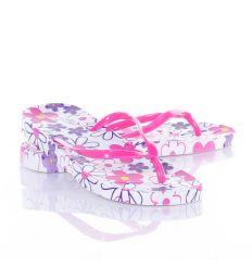 Talpán virág mintás, lábujjközös női gumi papucs (WL-2)