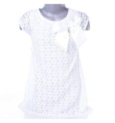 Csipkés, vállánál nagy masnis lány ruha (A87)