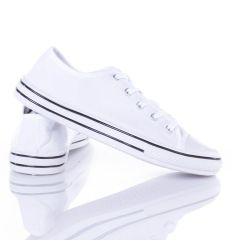 Fűzős uniszex vászon tornacipő (A144-1)