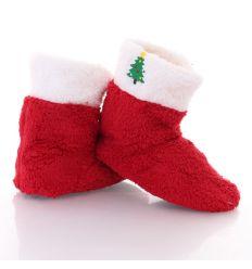 Karácsonyi mintás magasszárú gyerek mamusz (GM867)