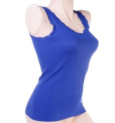 Bordás, csipkeszélű, puha, rugalmas női atléta, top (980)
