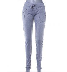 Strasszköves zsebes, csőszárú női pamut melegítő nadrág, alsó (J-9567)