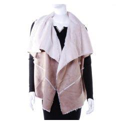 Szőrmés, velúros jellegű női divat mellény (LT-7438)