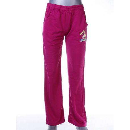 4174afd9eb Lovas mintás, bevarrt gumis lány pamut melegítő nadrág, alsó (PL-157)