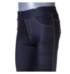 Farmeres, fenekén zsebes, bevarrt gumis lány pamutos leggings (LT-7327)