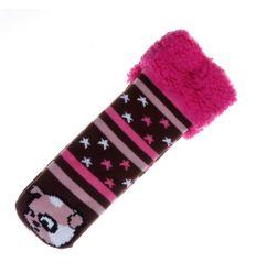 Vegyes mintás, bundás gyerek házi zokni, mamusz (GM880)