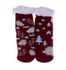 Vegyes mintás, bundás gyerek házi zokni, mamusz (GM891)