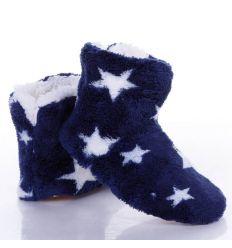 Csillag mintás, magsszárú gyerek mamusz, gumi talpú (GM901)