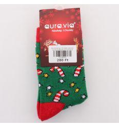 Karácsonyi mintás pamut gyerek zokni (SG05)